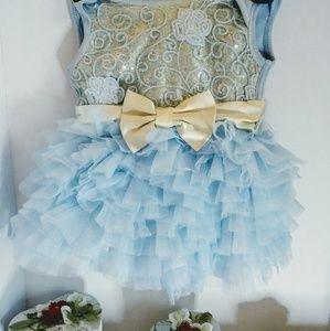 Baby girls designer fluffy dress 9-12month